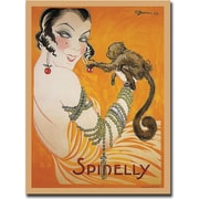 "Trademark Global ""Spinelly"" Canvas Art, 19"" x 14"""