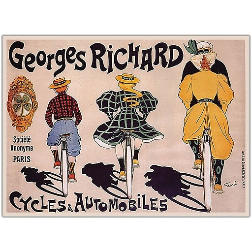 "Trademark Global Georges Richard ""Cycles & Automobiles"" Canvas Art, 18"" x 24"""