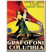 "Trademark Global ""Grafafoni Columbia"" Canvas Art, 19"" x 14"""