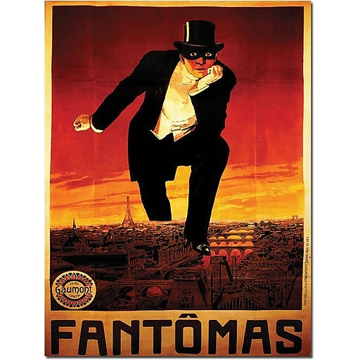 "Trademark Global ""Fantomas"" Canvas Art, 47"" x 35"""