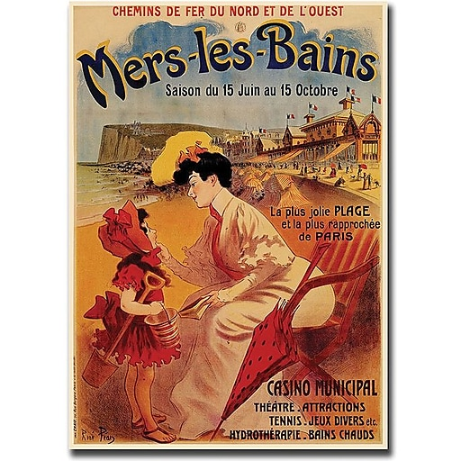 "Trademark Global ""Mers les Bains"" Canvas Art, 32"" x 26"""