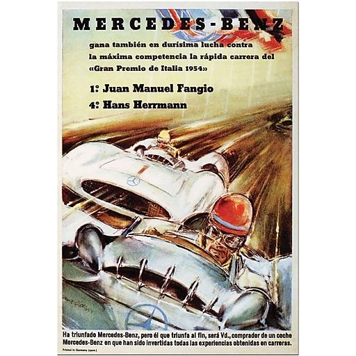 """Trademark Global """"Mercedes Benz"""" Canvas Art, 24"""" x 18"""""""