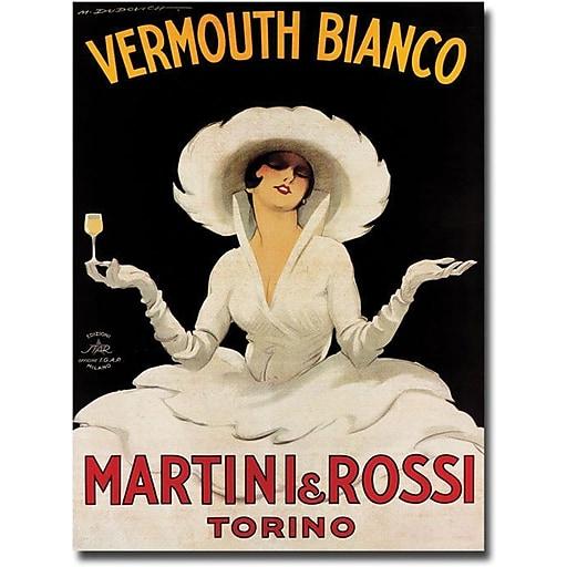 """Trademark Global Marcello Dudovich """"Vermouth Bianco Martini & Rossi"""" Canvas Art, 19"""" x 14"""""""