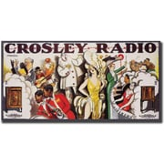 "Trademark Global ""Crosley Radio"" Canvas Art, 24"" x 47"""