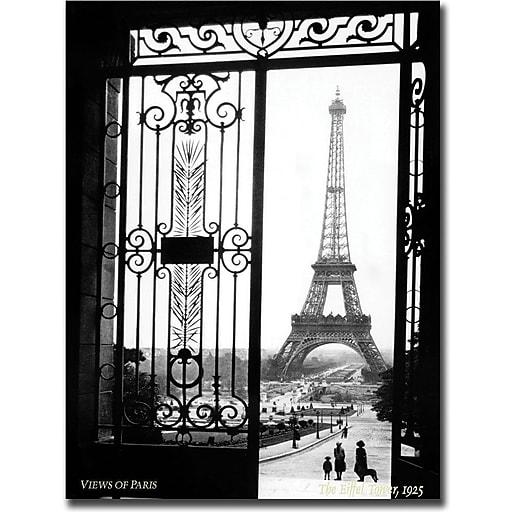 "Trademark Global Sally Gall ""Views of Paris"" Canvas Art, 19"" x 14"""