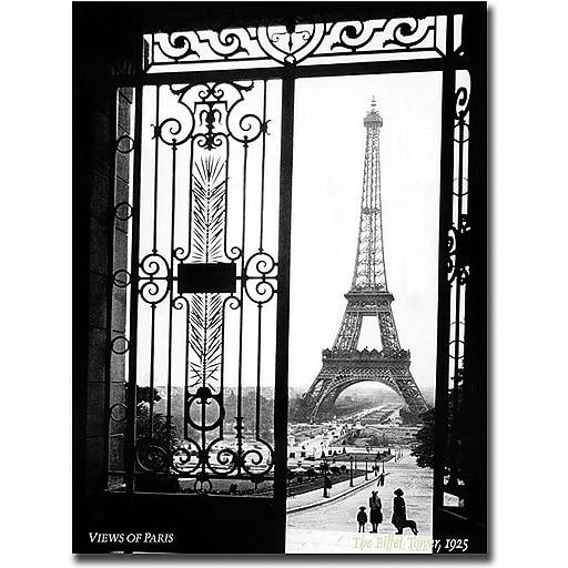 "Trademark Global Sally Gall ""Views of Paris"" Canvas Art, 24"" x 18"""