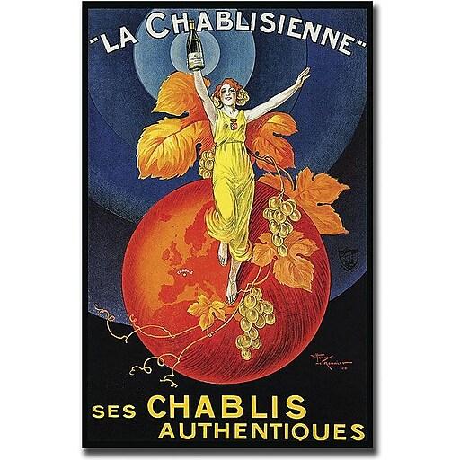"Trademark Global Henri Le Monnier ""La Chablisienne"" Canvas Art, 32"" x 26"""