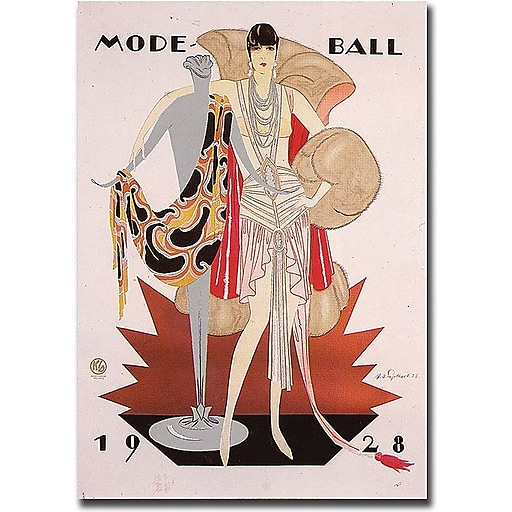 "Trademark Global ""Mode Ball 1928"" Canvas Art, 32"" x 26"""
