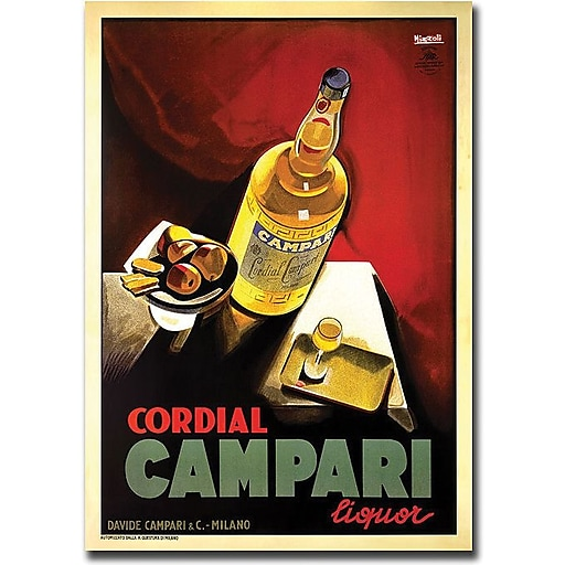 "Trademark Global ""Cordial Campari Liquor"" Canvas Art, 32"" x 26"""