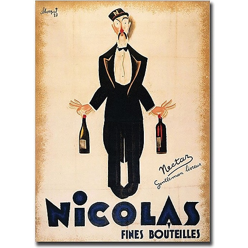 "Trademark Global ""Nicolas Fines Bouteilles"" Canvas Art, 32"" x 26"""