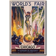 "Trademark Global Glen Sheffer ""World's Fair Chicago"" Canvas Art, 47"" x 30"""