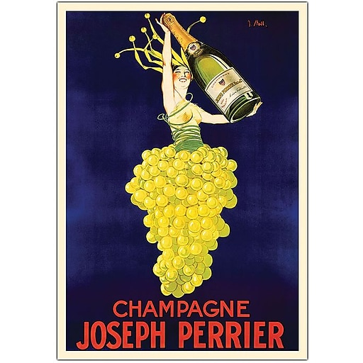 "Trademark Global ""Champagne Joseph Perrier"" Canvas Art, 32"" x 26"""
