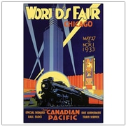 "Trademark Global Norman Fraser ""Chicago World's Fair"" Canvas Art, 24"" x 18"""