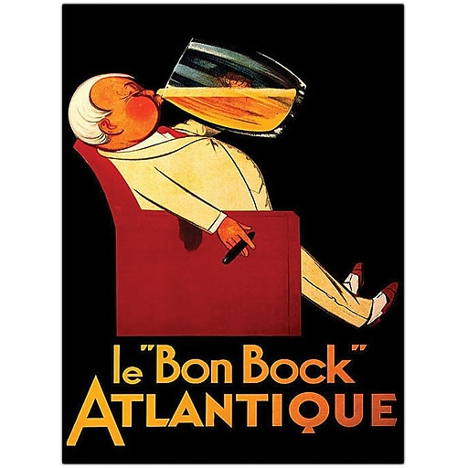 "Trademark Global ""Bock Le Bon Bock"" Canvas Art, 24"" x 18"""