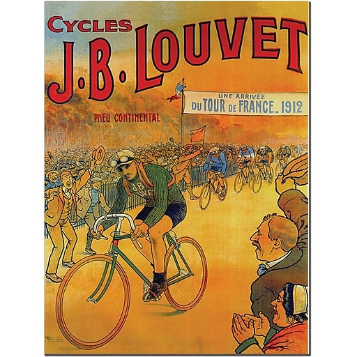 "Trademark Global Wendra ""Cycles J.B. Louvet"" Canvas Art, 24"" x 18"""