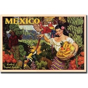 "Trademark Global ""Mexico"" Canvas Art, 18"" x 24"""