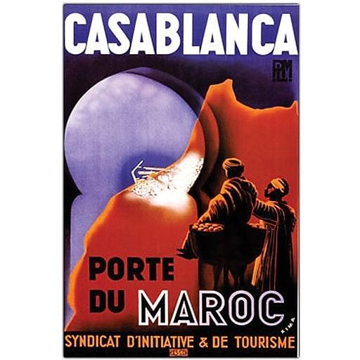 "Trademark Global ""Casablanca"" Canvas Art, 24"" x 18"""