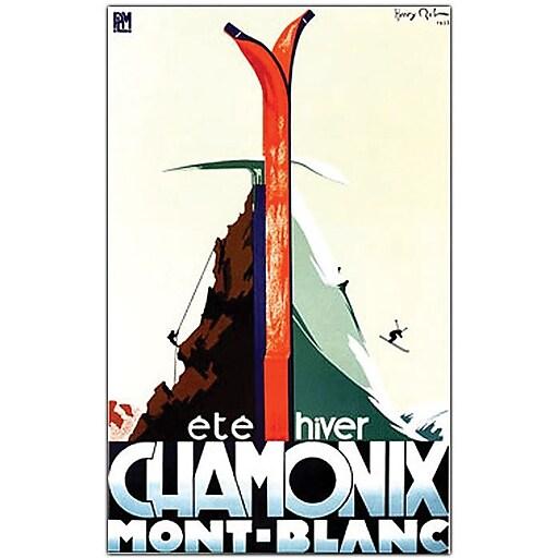"Trademark Global Henry Reb ""Chamonix Mont Blanc"" Canvas Art, 24"" x 18"""
