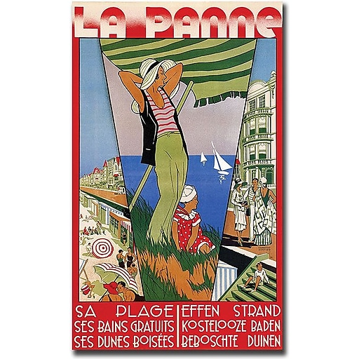 "Trademark Global Constant Nortier ""La Panne"" Canvas Art, 24"" x 16"""