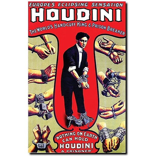 "Trademark Global ""Houdini"" Canvas Art, 19"" x 14"""