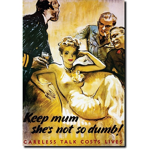 "Trademark Global ""Keep Mum she's not so Dumb"" Canvas Art, 24"" x 18"""
