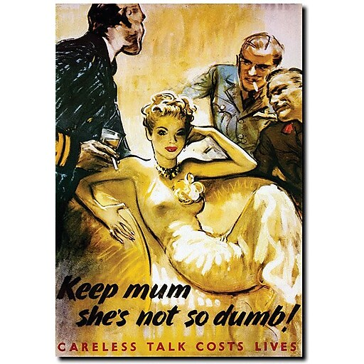 "Trademark Global ""Keep Mum she's not so Dumb"" Canvas Art, 47"" x 35"""