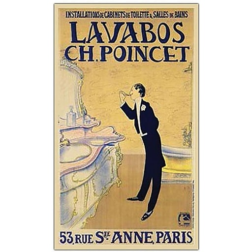 "Trademark Global ""Lavabos CH. Ponchet"" Canvas Art, 32"" x 24"""