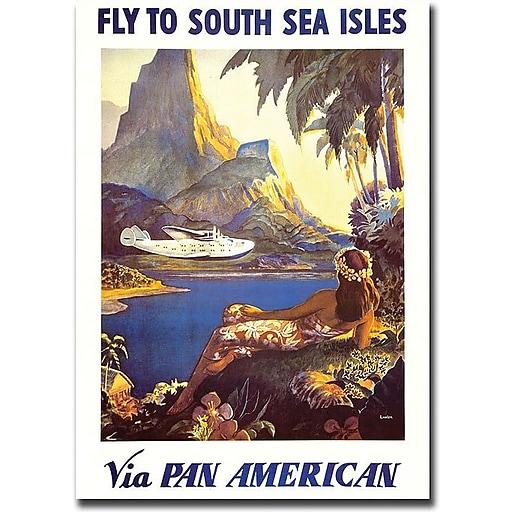 "Trademark Global Paul Lawler ""South Sea"" Canvas Art, 32"" x 26"""