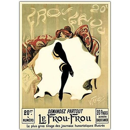 "Trademark Global Lucien Henri Weiluc ""Le Frou Frou"" Canvas Art, 19"" x 14"""