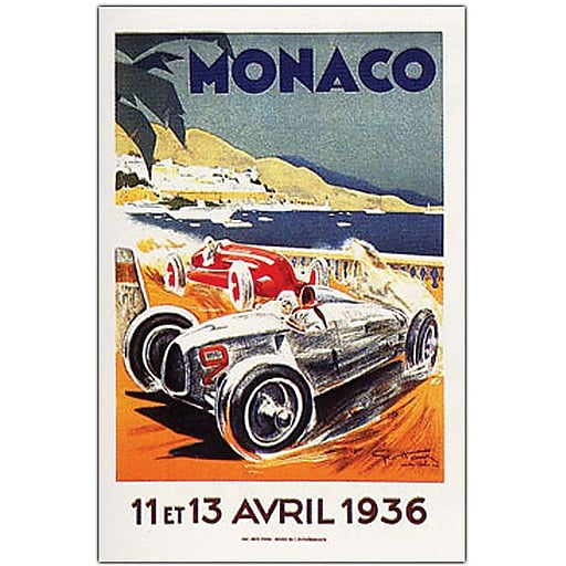 "Trademark Global George Ham ""Monaco 13 Avril 1936"" Canvas Art, 32"" x 26"""