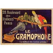 "Trademark Global ""Le Gramaphone"" Canvas Art, 18"" x 24"""