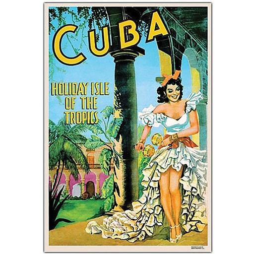 """Trademark Global """"Cuba Holiday Isle"""" Canvas Art, 47"""" x 35"""""""