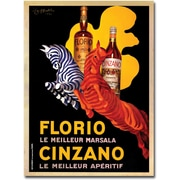 "Trademark Global ""Florio Cinzano"" Canvas Art, 19"" x 14"""