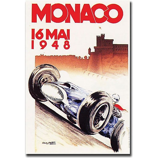 "Trademark Global George Ham ""Monaco 1948"" Canvas Art, 24"" x 18"""