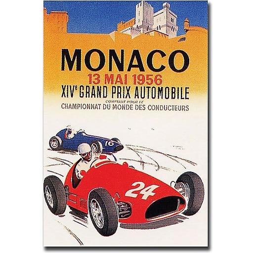 "Trademark Global George Ham ""Monaco 1956"" Canvas Art, 24"" x 18"""