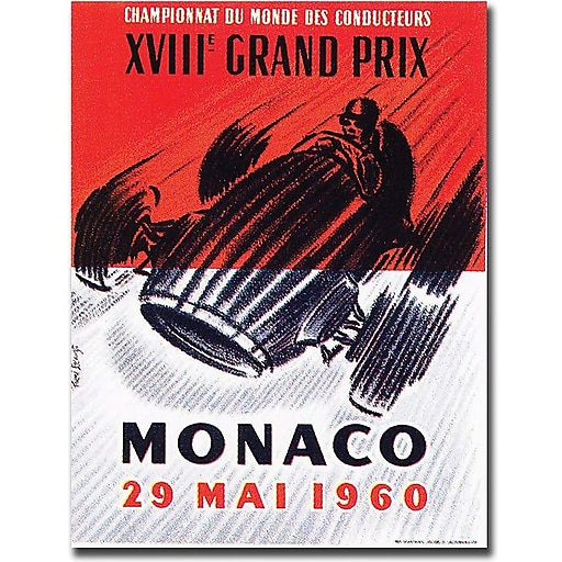 "Trademark Global George Ham ""Monaco 1960"" Canvas Art, 24"" x 18"""