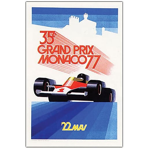 "Trademark Global George Ham ""Monaco 1977"" Canvas Art, 24"" x 18"""