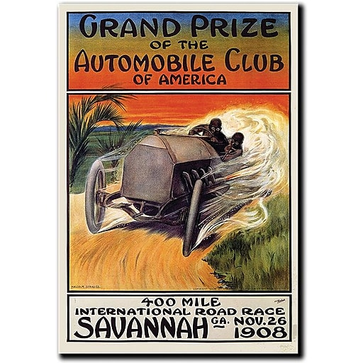"Trademark Global Malcolm A. ""Grand Prize of the Automobile Club of America"" Canvas Art, 47"" x 35"""