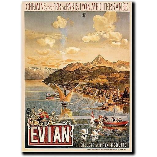 "Trademark Global Tanconville ""Evian"" Canvas Art, 24"" x 18"""