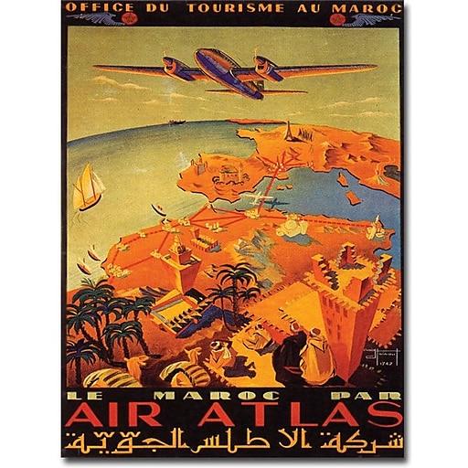 """Trademark Global Hainaut """"Le Maroc Par Air Atlas"""" Canvas Art, 24"""" x 18"""""""