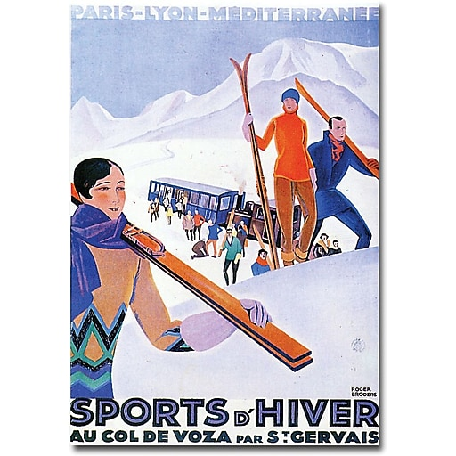 "Trademark Global Paul Lawler ""Sports d'Hiver Mont Blanc"" Canvas Art, 32"" x 24"""