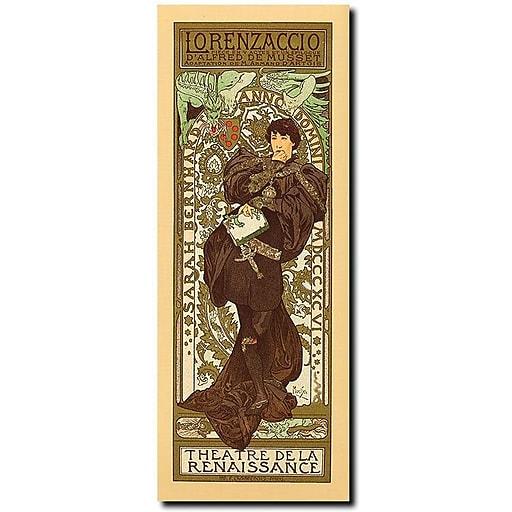 "Trademark Global Alphonse Maria Mucha ""Theatre de la Renaissance"" Canvas Art, 47"" x 24"""