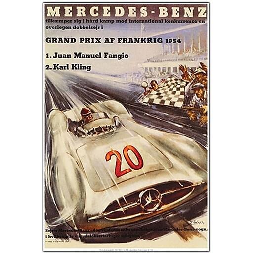 "Trademark Global ""Mercedes Benz Grand Prix"" Canvas Art, 19"" x 14"""