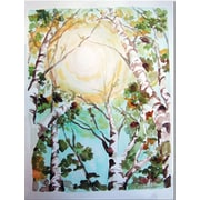 "Trademark Global Wendra ""Birch Trees"" Canvas Art, 24"" x 18"""