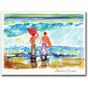 "Trademark Global Wendra ""Boogie Boarders"" Canvas Art, 18"" x 24"""