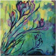 "Trademark Global Wendra ""Crocus"" Canvas Art, 18"" x 18"""
