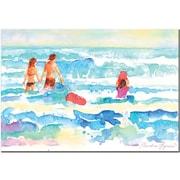 "Trademark Global Wendra ""Splash"" Canvas Art, 16"" x 24"""