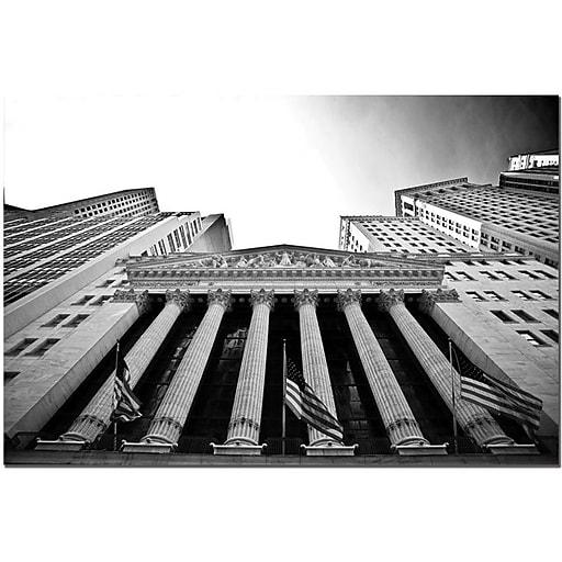 """Trademark Global Yale Gurney """"New York Stock Exchange"""" Canvas Art, 14"""" x 19"""""""