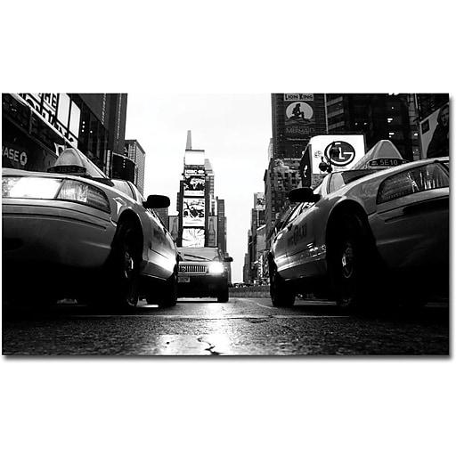"Trademark Global Yale Gurney ""Broadway Taxis"" Canvas Art, 14"" x 19"""
