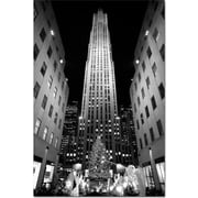 "Trademark Global Yale Gurney ""Rockefeller Night"" Canvas Art, 19"" x 14"""